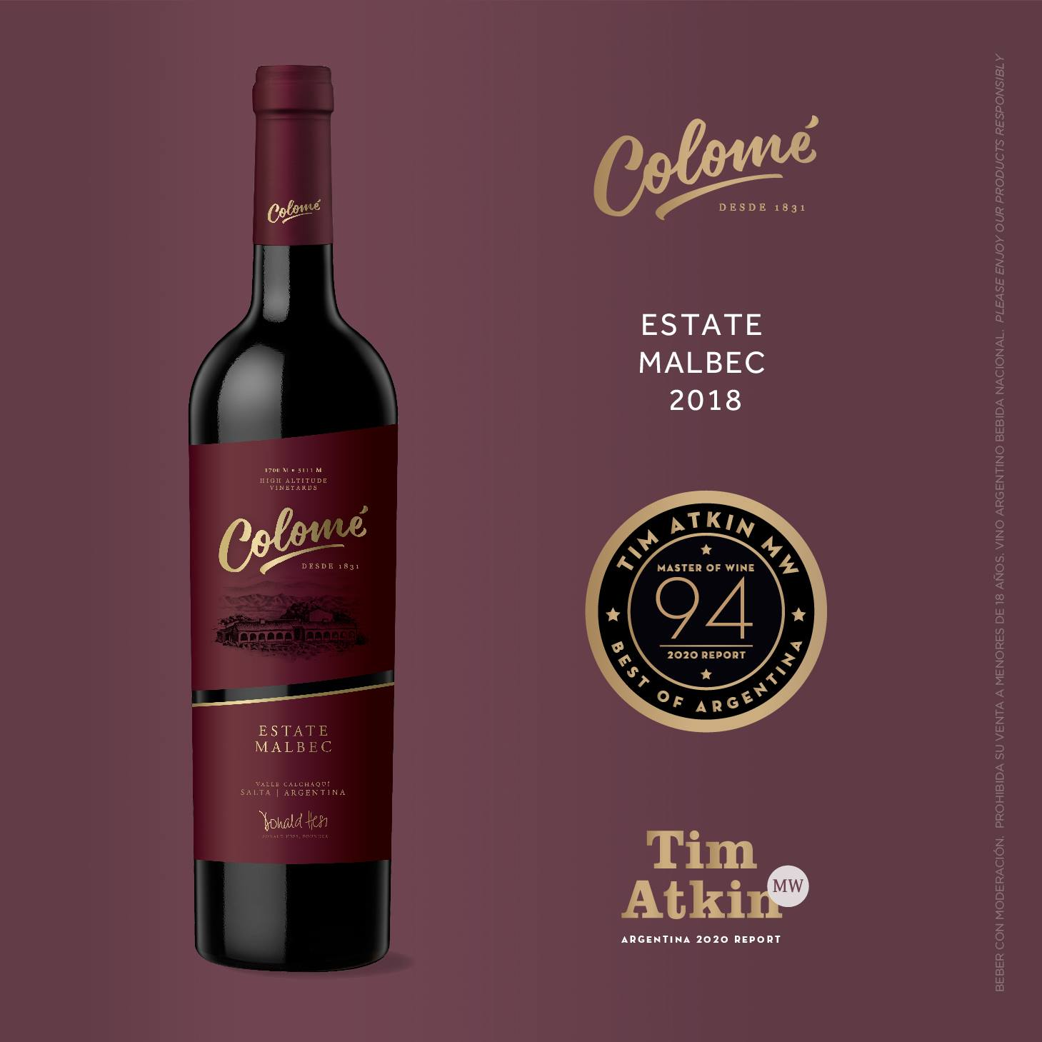 Colome Estate Malbec 2016